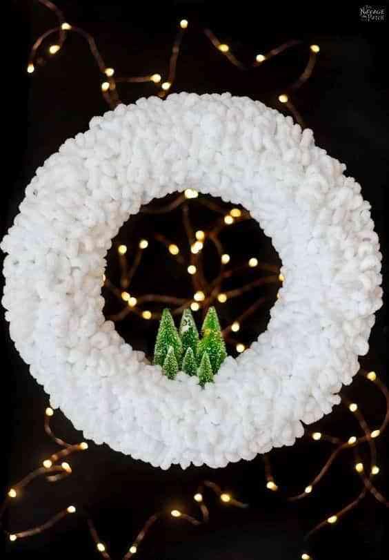 coronas blancas de navidad III