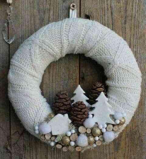 coronas blancas de navidad IV