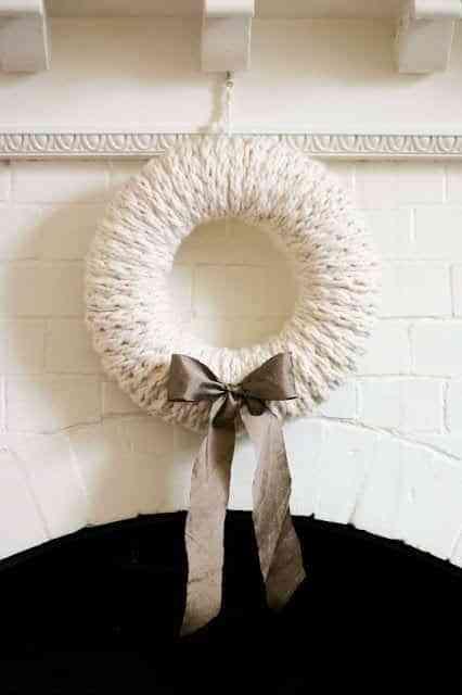 coronas blancas de navidad V
