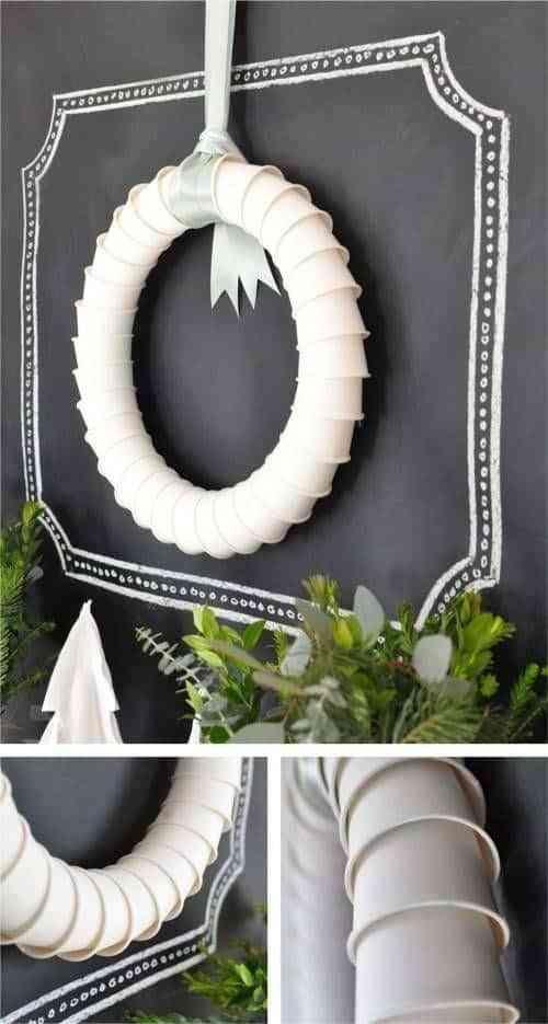 coronas blancas de navidad VII
