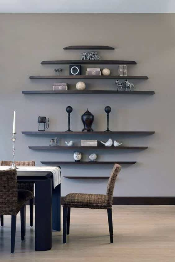 decorar con estantes de pared III