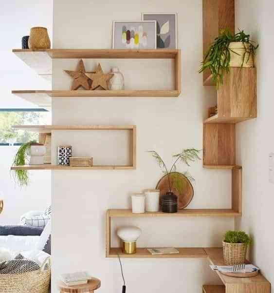 decorar con estantes de pared VIII