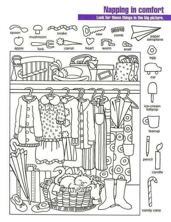 dibujos para colorear con ninos IV