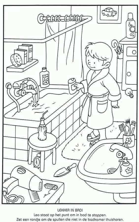 dibujos para colorear con ninos XII