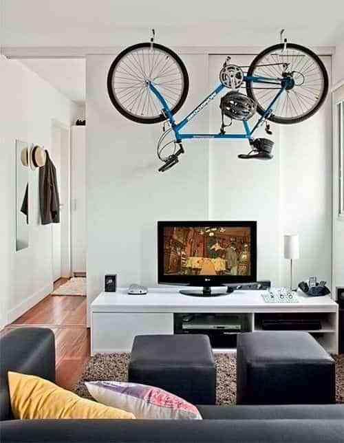 10 buenas ideas para guardar la bicicleta en casa