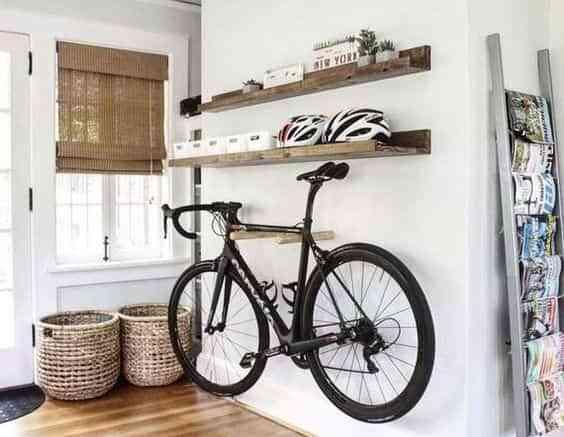 guardar la bicicleta en casa