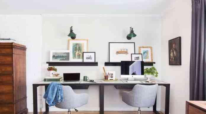 silla de oficina en casa