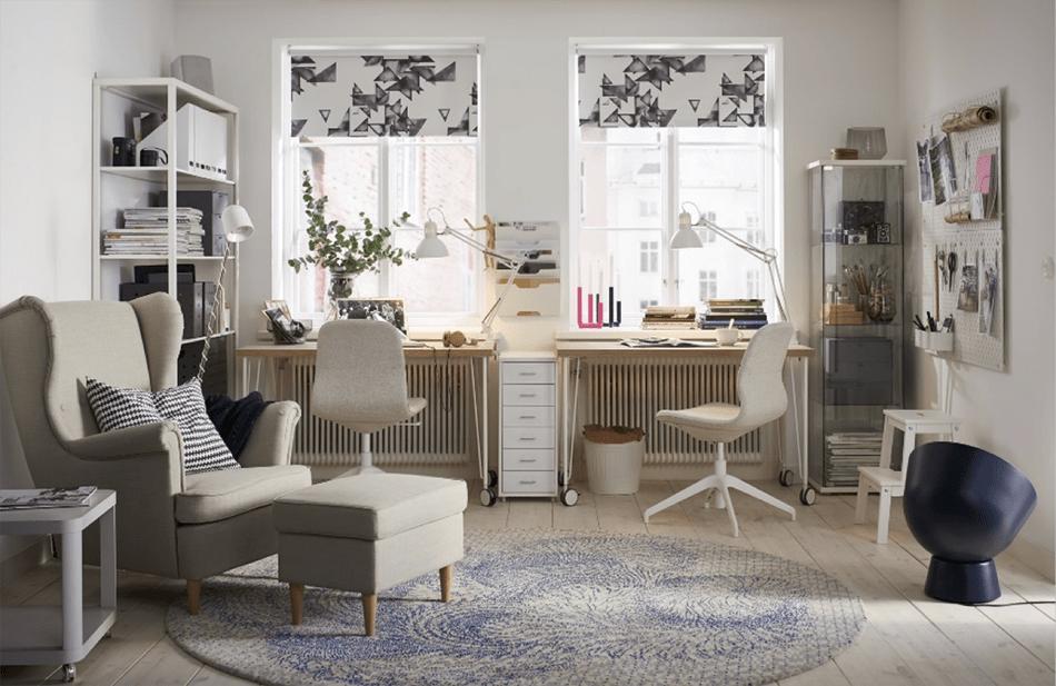Un rincón de trabajo en casa… ¡bien integrado!