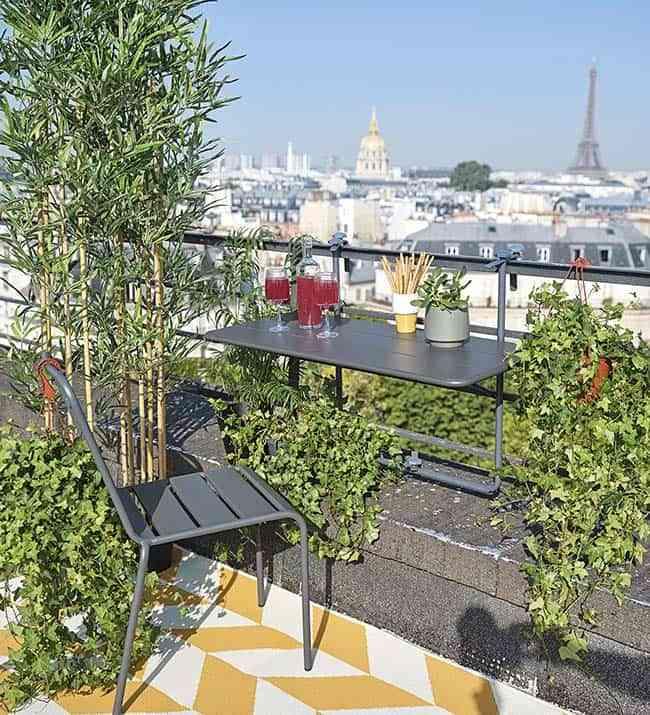 balcón con encanto, muebles para balcones