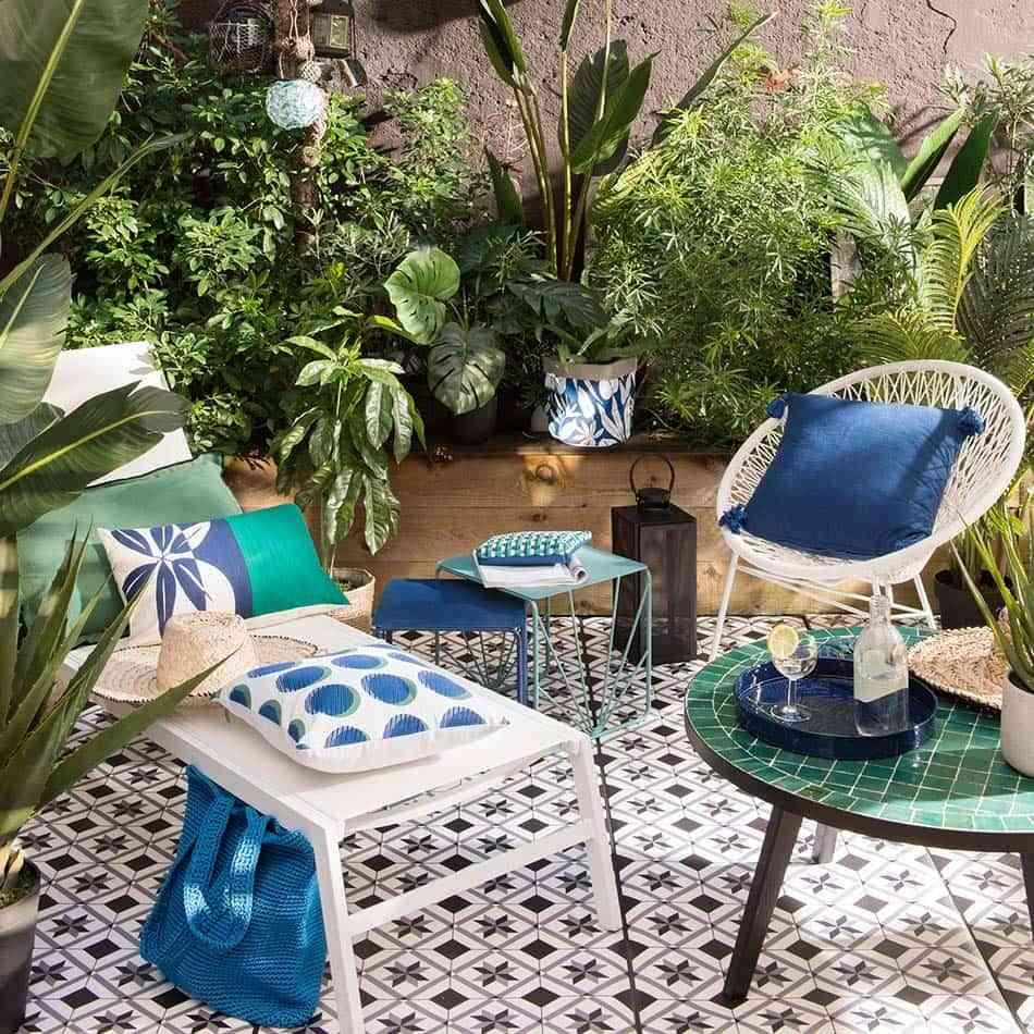 balcón con encanto, balcón, textiles, suelos balcón
