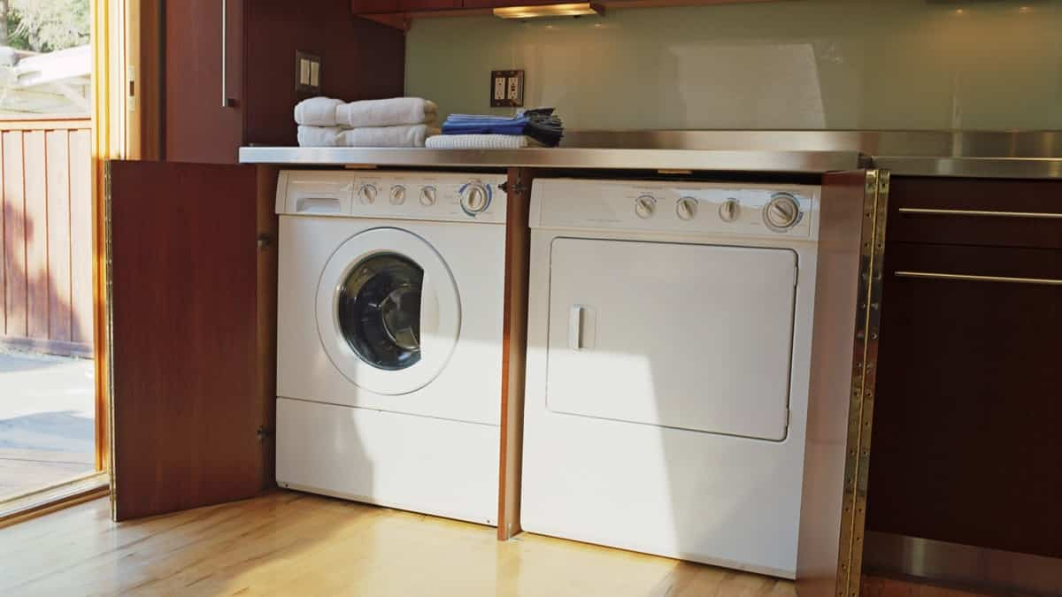los suelos en la lavanderia