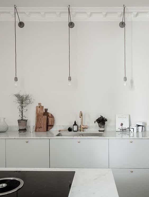 iluminar la encimera de la cocina puntos de luz