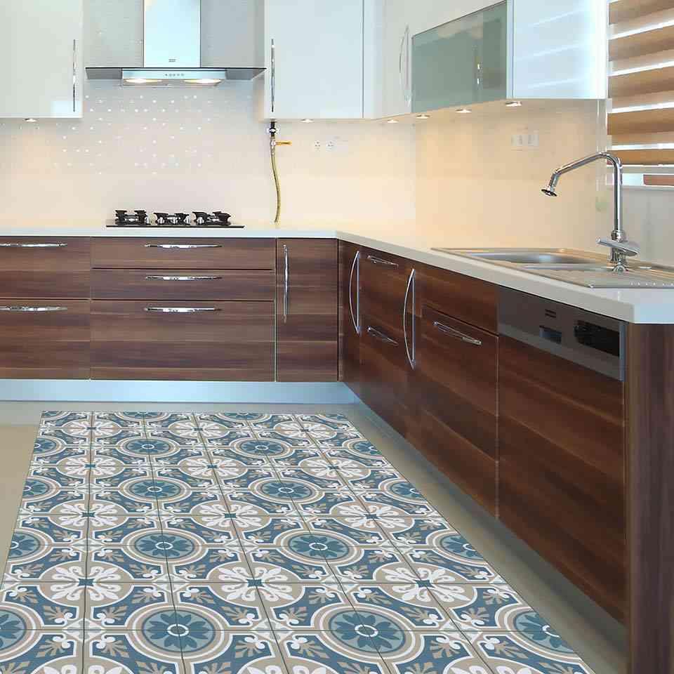 estrena cocina, cocina, alfombra vinílica