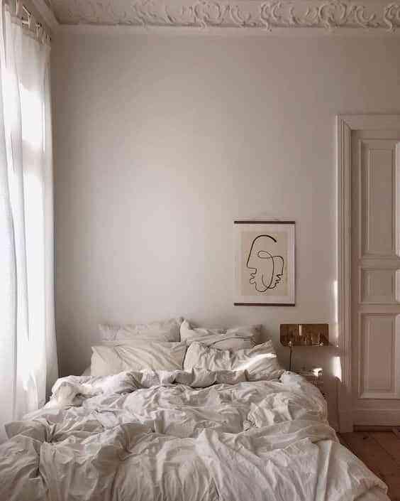 camas deshechas blanco