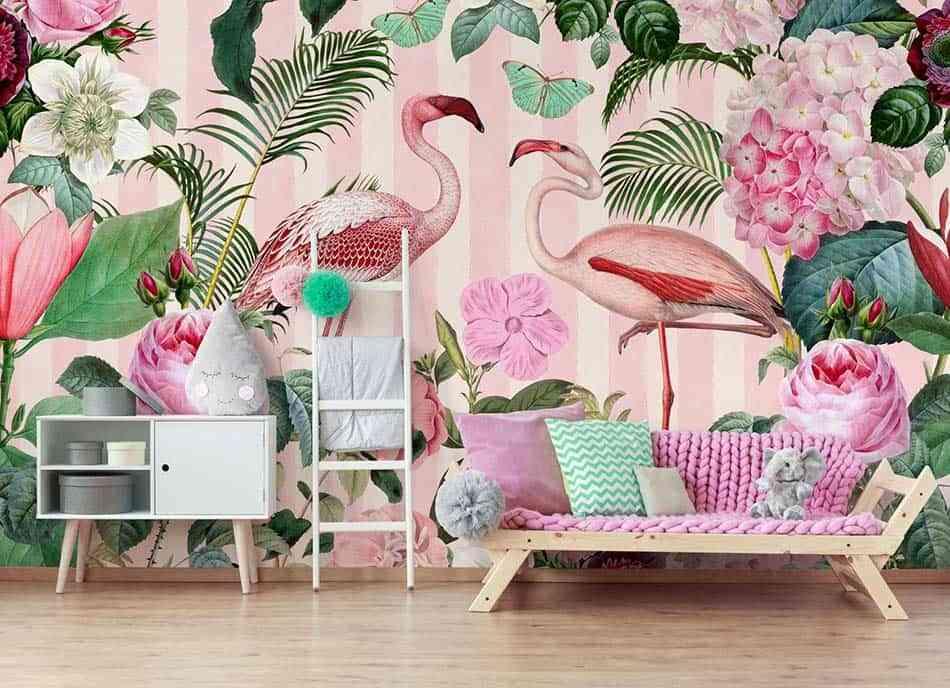 tropico en casa, papel pintado
