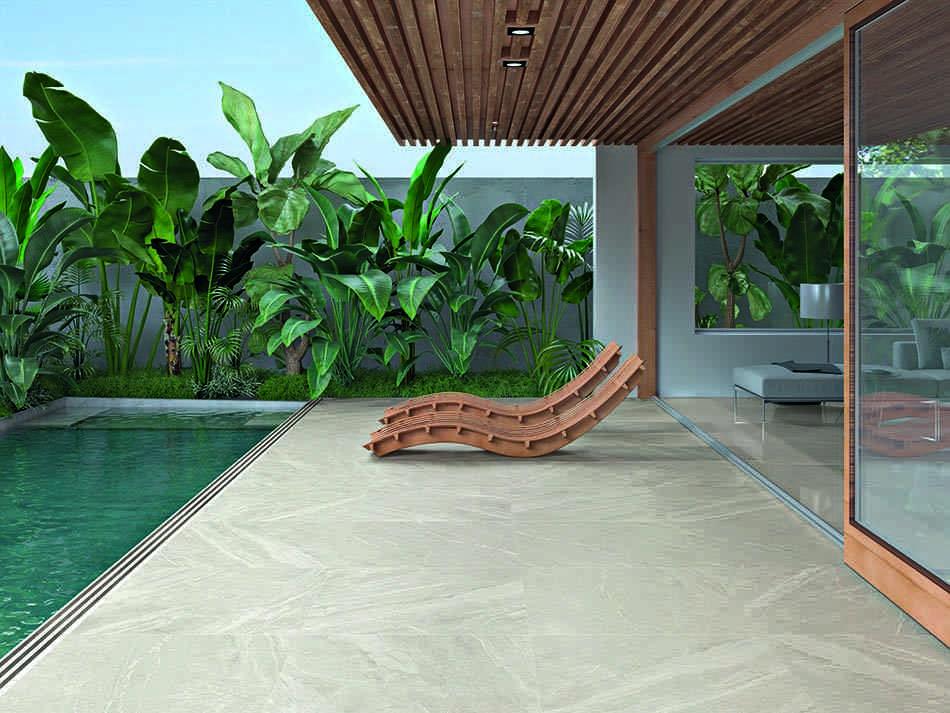 piscina, pavimento cerámico