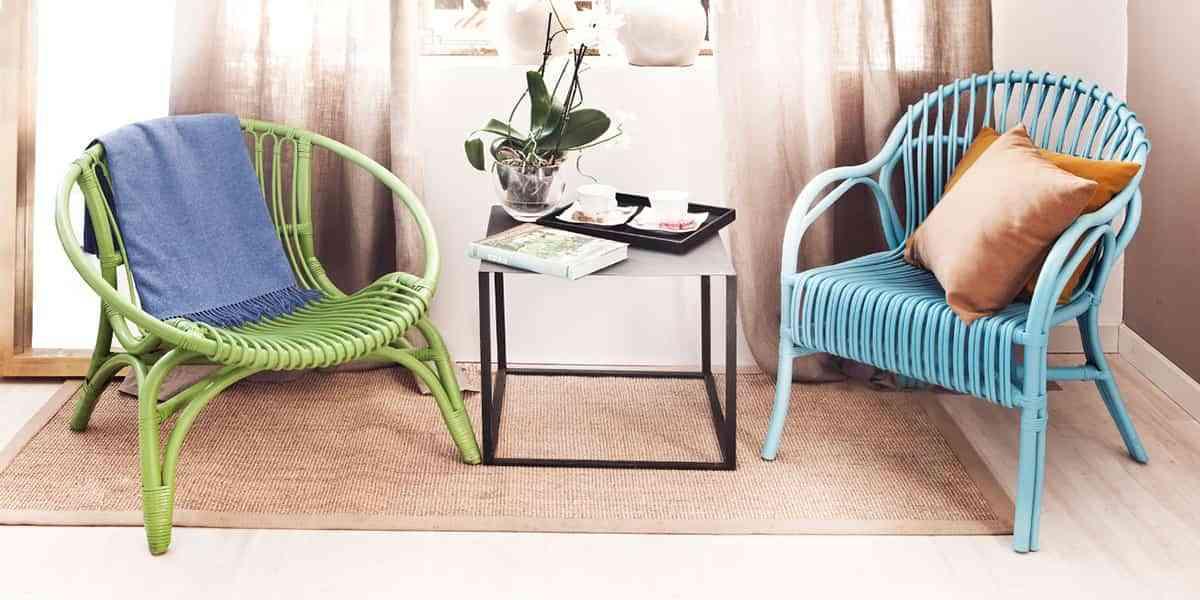 Renueva los muebles de mimbre con un cambio de color