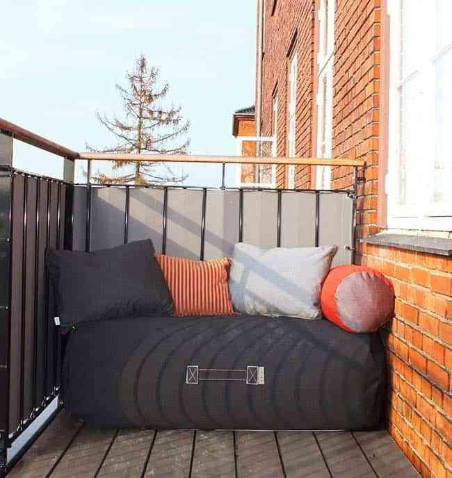 terraza todo el año, parapetos, asientos inflables