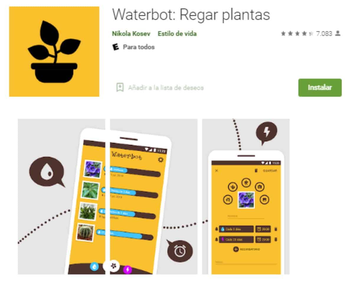 aplicacion waterbot