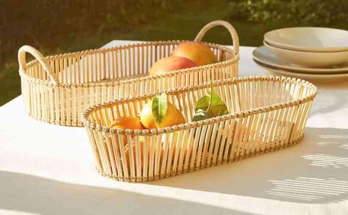 bandejas picnic ratan zara