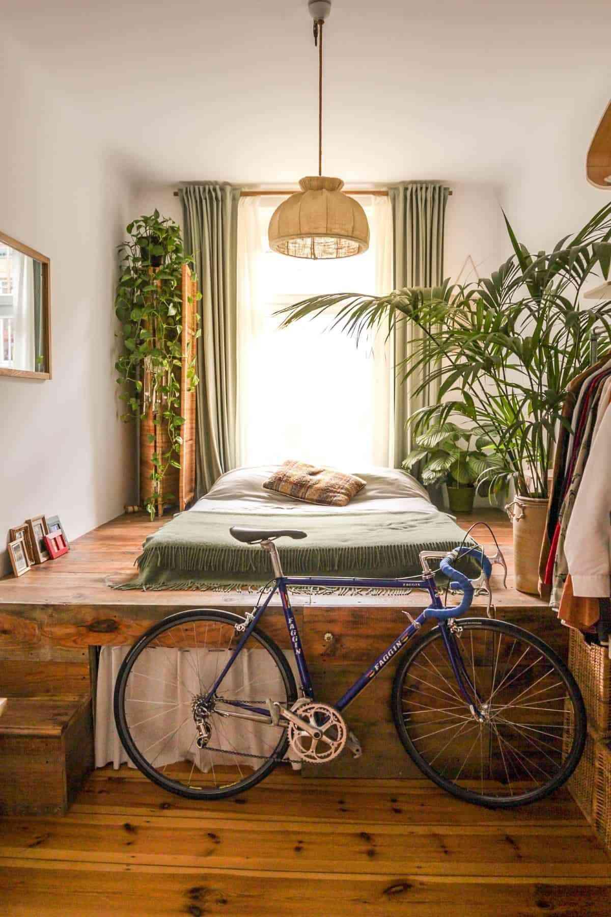 el verdor de las plantas en tu dormitorio