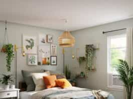 plantas con mucho verdor dormitorio