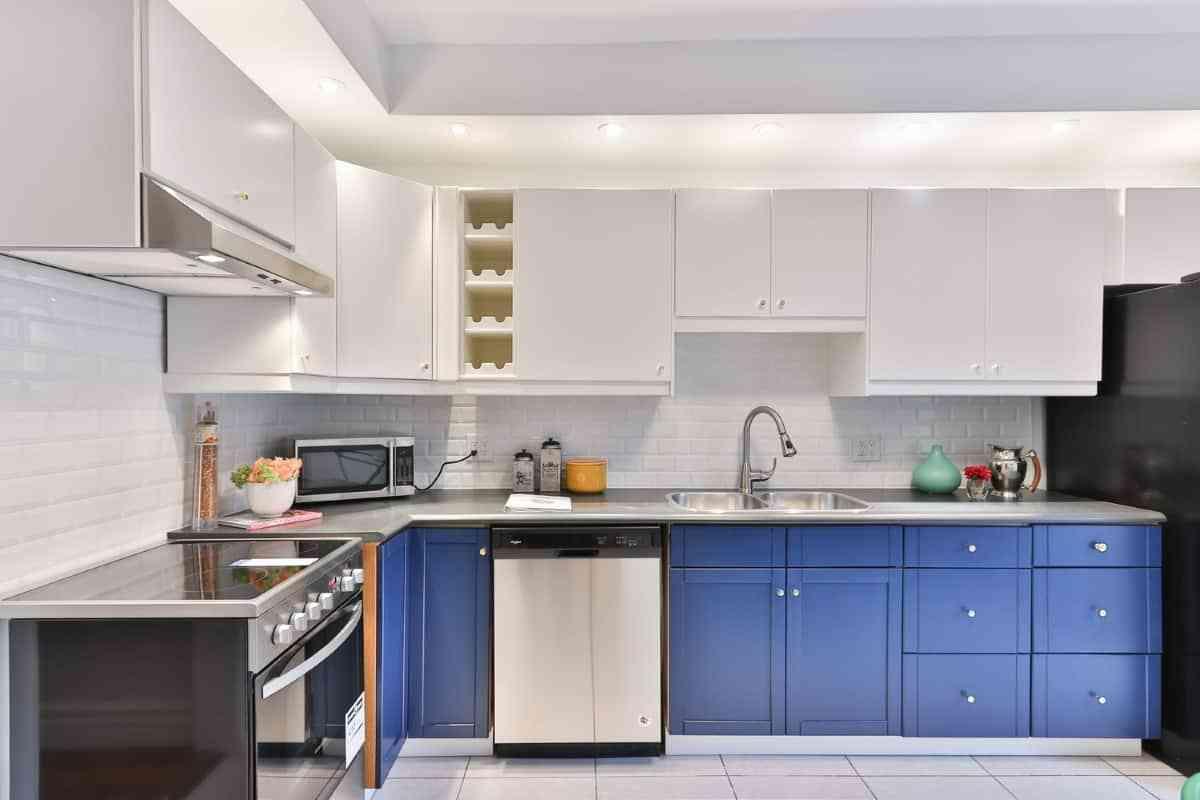 cocinas color azul atlantico