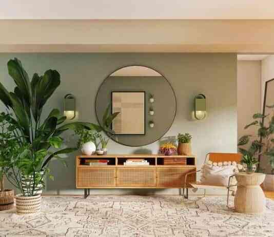 decorar el salon con grandes espejos
