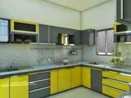 intenso amarillo para una cocina moderna