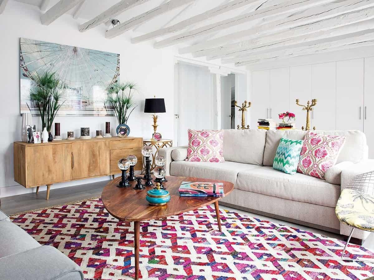 Cómo decorar una sala de estar con estilo boho