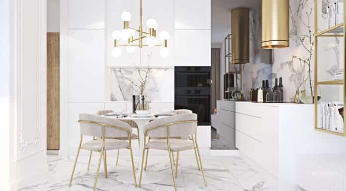 decorar con elementos dorados