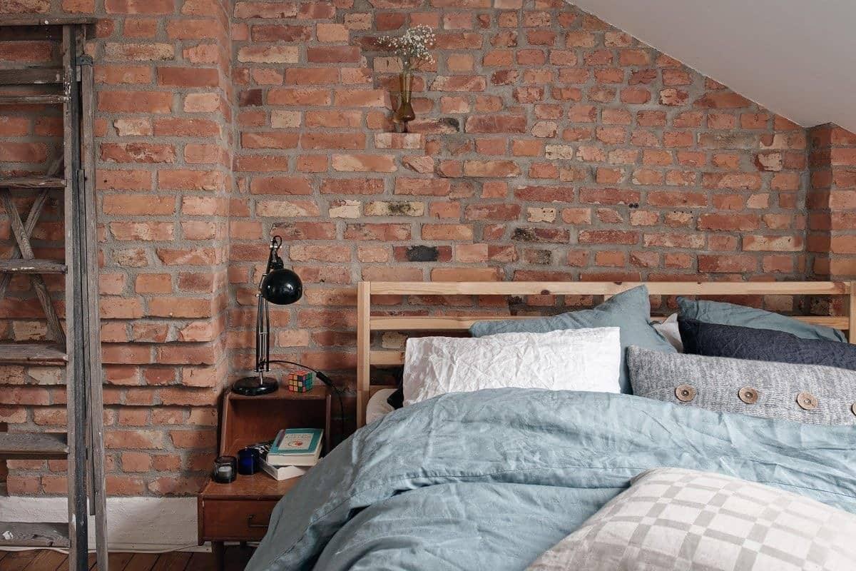 10 ideas para decorar un dormitorio con pared de ladrillos