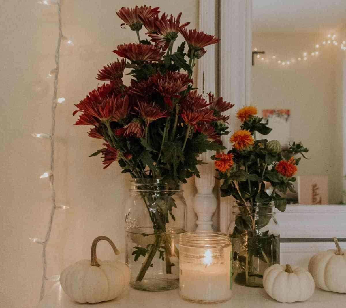 decorar con calabazas y velas