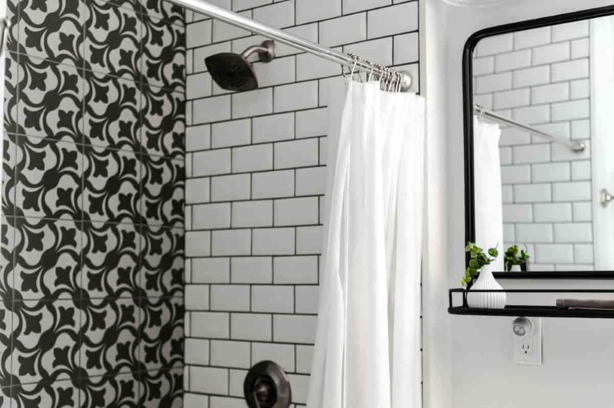 elegancia blanco y negro para el bano