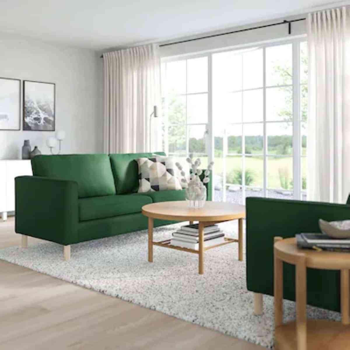 sofa verde de ikea