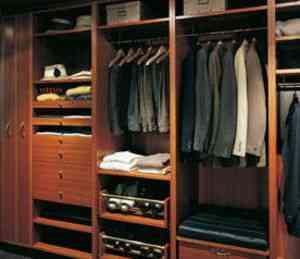 Vestidor integrado en la habitación