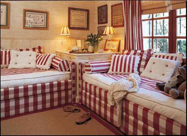 La habitaci n infantil como espacio vers til decoraci n - Habitaciones con dos camas ...