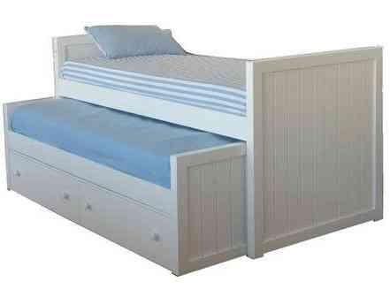 Camas dobles y triples para dormitorios infantiles for Cajones bajo cama ikea