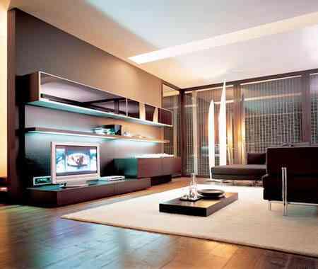 Muebles bajos para el sal n decoraci n de interiores for Muebles estilo moderno minimalista