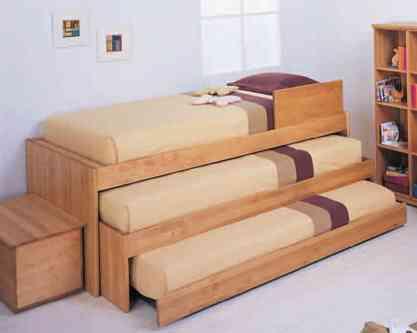 Camas dobles y triples para dormitorios infantiles