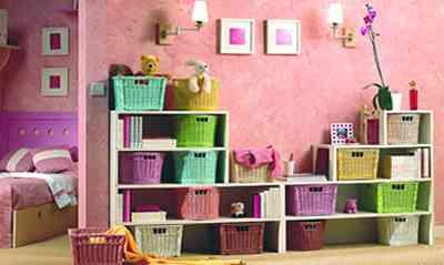 Soluciones para organizar dormitorios infantiles - Cajas decorativas para almacenar ...