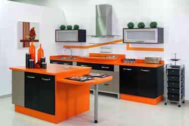 cocina-moderna-quivir-naranja