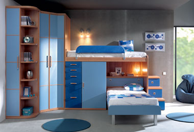 Cuando dos niños deben compartir cuarto