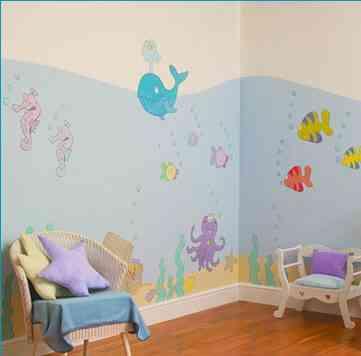 mural-peces-caballitos-de-mar