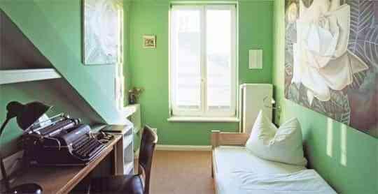 Tipos de pintura para pintar las paredes - Habitación con pintura verde
