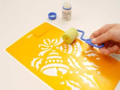 El estarcido y esténcil para decorar las paredes - Plantilla estarcido o estencil