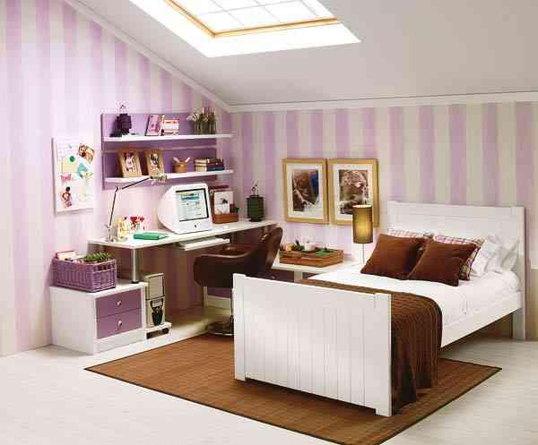 El encanto de un dormitorio juvenil abuhardillado - Habitaciones juveniles con encanto ...
