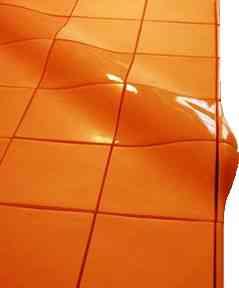 Mosaicos tridimensionales decoraci n de interiores for Decoracion piso naranja