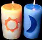 Decoración de velas luna y estrella