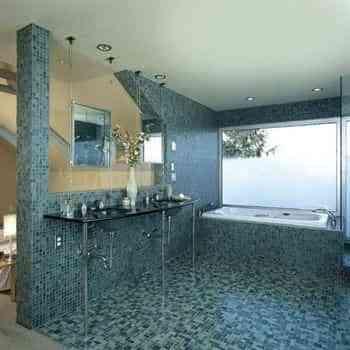 Decorar paredes con venecitas - Pared y suelo con venecitas